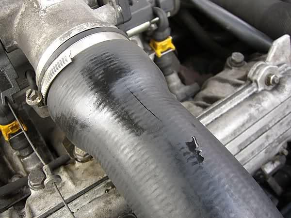fallo de un tubo intercooler roto
